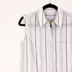 EQUIPMENT Classic Slim Cotton Sleeveless Button Up
